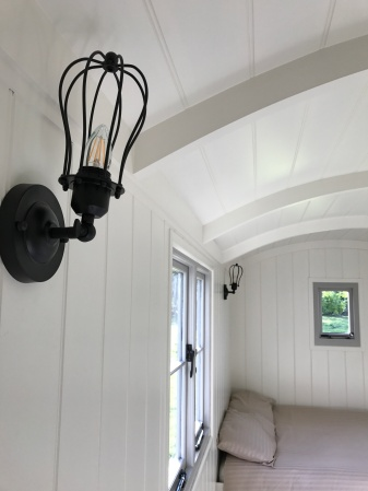Shepherd hut - light fittings