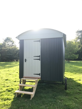 Shepherd hut - Rear Entrance