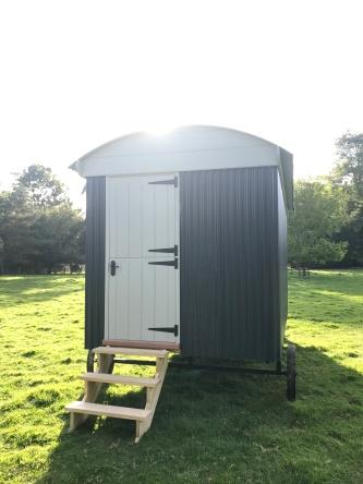 Shepherd hut - Rear Entrance